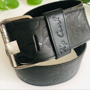 Rip curl Leather tooled belt Black extra wide